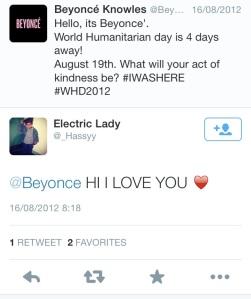 A fan replies to Beyonce's tweet