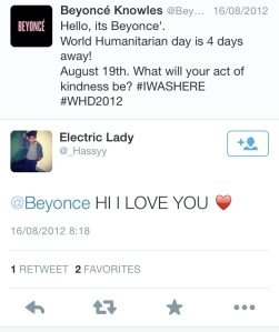 A fan replies to Beyonce's tweet