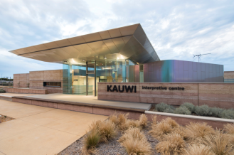 Entrance to the Kauwi Interpretive Centre